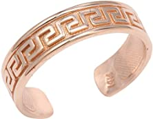 buy 10K Rose Gold Greek Key Toe Ring