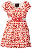 Girls Rule Little Girls Tiered Heart Printed Dress