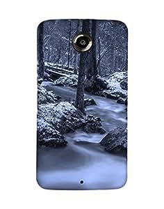 Mobifry Back case cover for Motorola Google Nexus 6 Mobile ( Printed design)