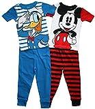 Disney Mickey Mouse & Donald Duck Little Boys 4 pc Cotton Pajama Set