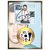 OLLY MURS - SIGNED FRAMED GOLD VINYL CD & PHOTO DISPLAY right place right time re-print