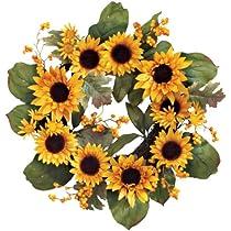 Sunflower Wreath by WalterDrake