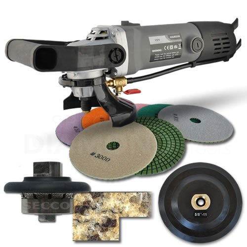Hardin HWV316POLSET 3/16-Inch Radius Stone and Concrete 3/16-Round Bullnose Shaping and Wet Polishing Kit
