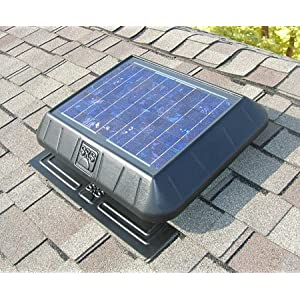 Solar Powered Flat Base 850 CFM Attic Fan , Ventilator
