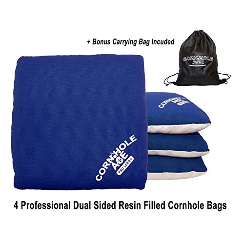 Professional Cornhole Bags (4 Blue Bags) (Micro Bag Toss compare prices)