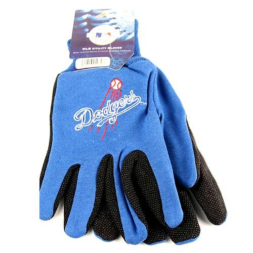 MLB All Purpose Team Two Tone Sport Utility Grip Gloves (Los Angeles Dodgers)(Script) at Amazon.com