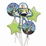 Disney Toy Story 3 Balloon Birthday Party Favor Supplies 5ct Foil Balloon Bouquet