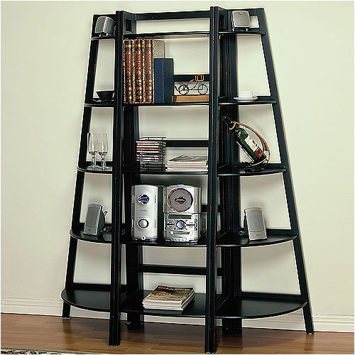 Powell Furniture 502-579 Antique Black Large Bookcase