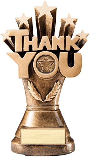 Thank You Trophy - 8 Inches Tall - Sponsor Award