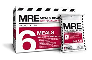 MRE (Meals, Ready to Eat) - Two Course Fresh MREs with Heaters - 5 Year Shelf Life (Pack of 6) by Meal Kit Supply