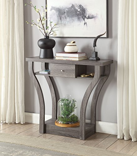 Price Tracking For Weathered Grey Finish Curved Console