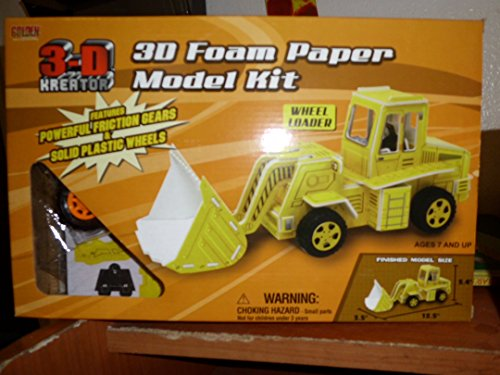 3-D Foam Paper Model Kit Wheel Loader