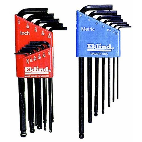 Eklind 13218 Combo Pack Ball-Hex-L Key Set, Contains 13211 and 13607