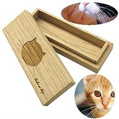 猫専用 桐製猫のひげケース【高級桐天然木使用】/マルチケースとしてもお使いいただけます。