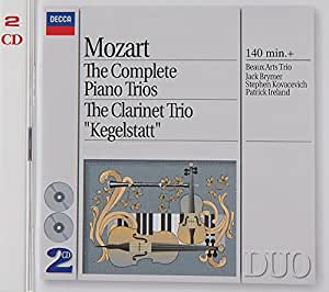 "Mozart : Intégrale des trios avec piano - Trio avec clarinette ""Kegelstatt"" (Coffret 2 CD)"