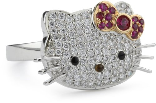 "Hello Kitty by Kimora Lee Simmons GemStone ""Simply Kitty"" Ring, Size 7"
