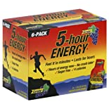 5-Hour Energy Energy Shot, Grape, 6 ct.