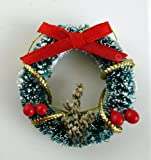 Dolls House Miniature 1:12 Christmas Accessory Decorated Snowy Christmas Wreath