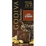 Godiva 72% Dark Almonds Bar 100g