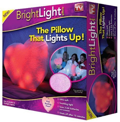 Bright Light Pillow As Seen On TV - Pink Beating Heart Model: BRTLTEH