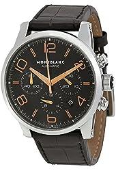Montblanc Timewalker Chronograph Automatic Black Dial Mens Watch 101548
