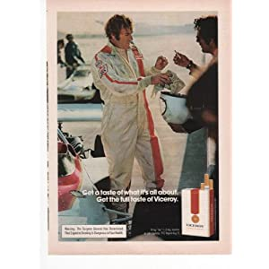 Vintage Antique Auto Racing on Viceroy Cigarettes Auto Racing Driver Smoking 1973 Vintage Antique
