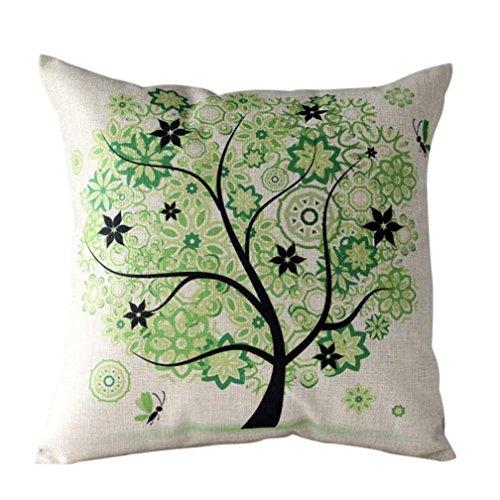 longra-frais-rural-dessin-anime-une-fleur-arbre-taie-doreiller-45cm45cm-vert