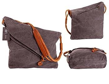 Tom Clovers Women's Men's Canvas Crossbody Messenger Shouder Handbag Tote Weekender Bag 2