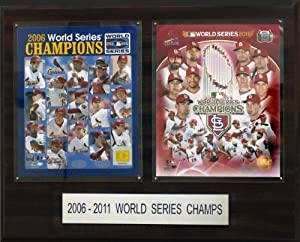 MLB St. Louis Cardinals 2006 and 2011 Champions 16 x 20-Inch Plaque by C&I Collectables