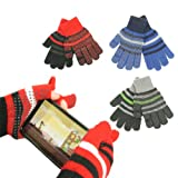Boy's 7 - 14 Texting / Gaming Gloves (Gripper Palm, Stretch Fit)