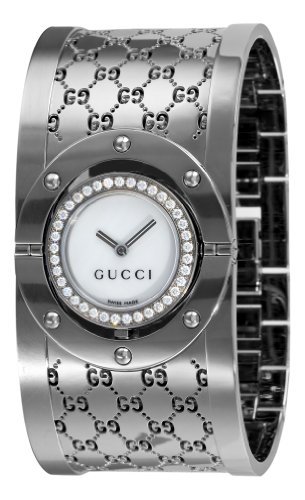 23cd21c297c Low Price On GUCCI Women s YA112415 112 Diamond Bangle Mother-of ...