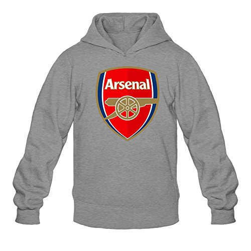 YYShirt Men's Arsenal FC FA Premier League Champions Lover Hoodie Sweatshirt Large Dark Grey