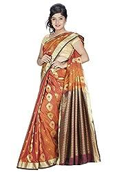 Srinidhi Silks Orange Silk Sari (Ssi 030 shrindi)