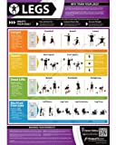 Legs Exercise Wall Chart - A3 Laminated with on-line video training support (smart phone only)