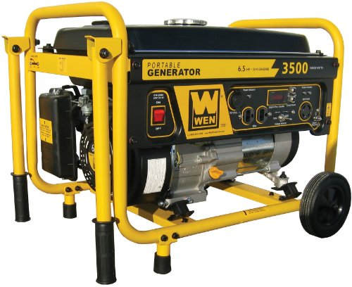 WEN 56352 3,000 Watt 196cc 6.5 HP OHV 4-Cycle Gas Powered Portable Generator With Wheel Kit
