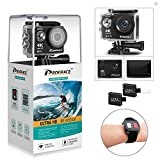 DROGRACE WP350 Sports DV Camera Wifi Video Action Camera Waterproof 4K 60fps 30fps 1080p Full HD for Youtube Underwater Remote Digital Camera Accessories Kit 12MP 170 Wide Angle 6G Lens (Color: Black, Tamaño: 4K Action Camera)