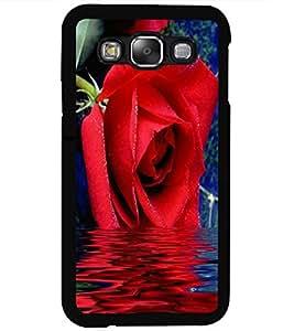 ColourCraft Lovely Rose Design Back Case Cover for SAMSUNG GALAXY E5