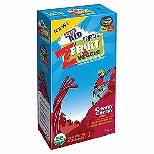 Clif Kid Z Cheery Cherry ZFruit & Veggie Bars, 5 pk