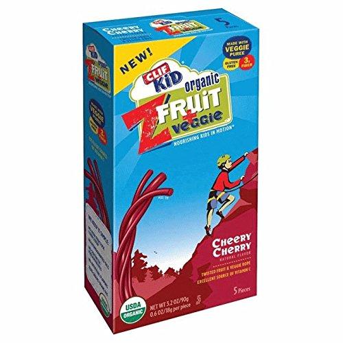 Clif Kid Z Cheery Cherry ZFruit & Veggie Bars, 5 pk (Cliff Organic Fruit Rope compare prices)