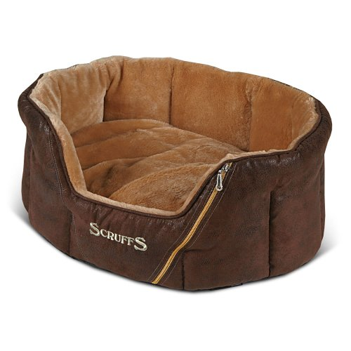 Scruffs Ranger Donut Pet Bed, Antique Brown, 61cm