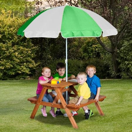 Backyard Discovery Wooden Picnic Table (Tabletop Playhouses For Kids compare prices)
