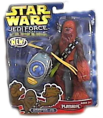 Star Wars Jedi Force Chewbacca Action Figure with Wookiee Scout Flyer
