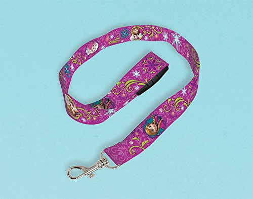 "Amscan Disney Frozen Lanyard Party Favor, Violet/Purple, 18 1/2"" x 3/4"""