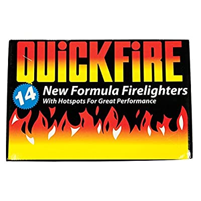 Invero Pack Of 14 Fire Lighters Firelighters For Bbq Barbecue Log Burners Stoves Quick Formula Hotspots Camping by Invero®