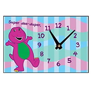 Amazon.com: PBS KIDS Barney Super Dee-Duper Desk Clock: Toys & Games
