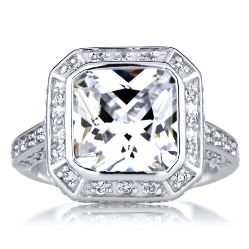 5 CT CZ Engagement Ring