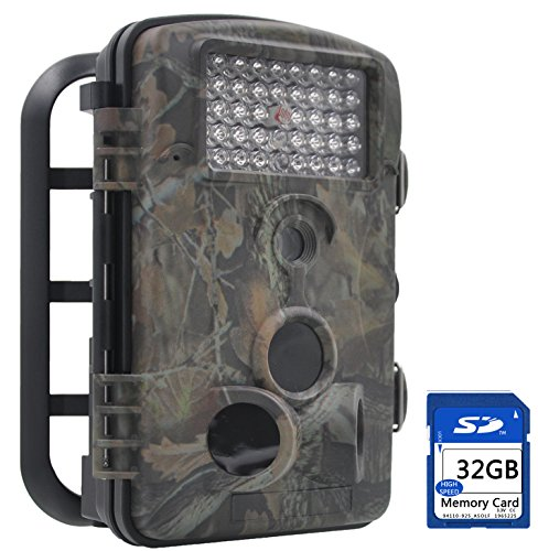 "FULLLIGHT TECH 120°Wide Angle PIR Detect 12MP 1080P Trail Game Camera with 24"" LCD Screen 42 Pcs Infrared Led Night Vision Motion Aactivated Outdoor MINI Waterproof HD Wildlife Camera (Low Glow+32GB)"