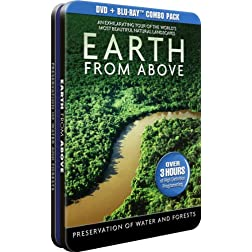 Earth From Above - Preservation of Water and Forests - DVD + BD - Collectable Tin [Blu-ray]