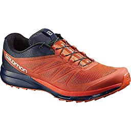 Salomon Sense Pro 2 Trail Running Shoe - Men\'s Tomato Red/Black/Navy Wil, 10.5