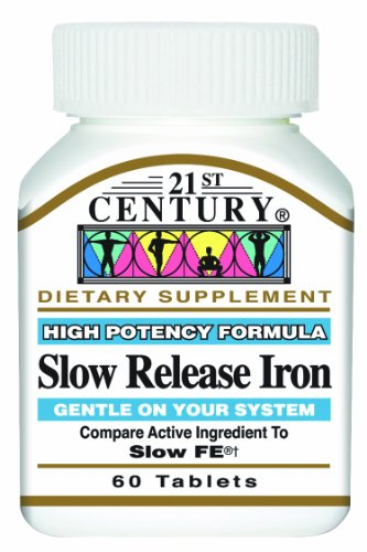 21st Century Slow Release Iron Tablets, 60 Count (Pack of 3) (Century 21 compare prices)